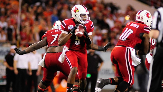 Former Louisville quarterback Teddy Bridgewater is a possibility for the Cardinals with the 20th pick in the draft.