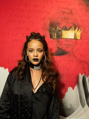 LOS ANGELES, CA - OCTOBER 07:  Singer Rihanna at Rihanna's
