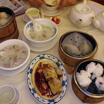 Dim sum breakfast in Hong Kong.