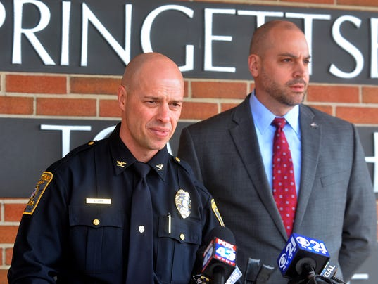 Police press conference on school threats