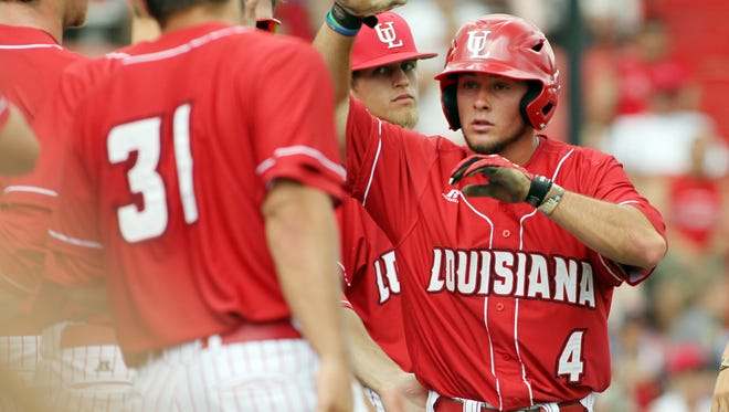 """UL plays San Diego State in the NCAA Baseball Division I Regional Tournament Saturday, May 31, 2014, at M.L. """"Tigue"""" Moore Field in Lafayette, La."""