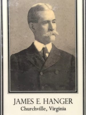 Detail from a James Hanger bookmark.
