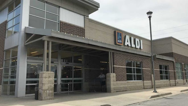 Two men put a total of eight steaks down their pants and walked out of Aldi, 1712 S. 108th St.