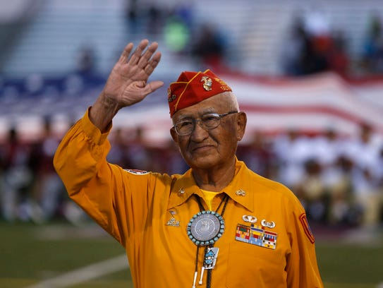Navajo code talker Thomas Begay is honored Sept. 5,