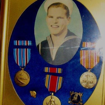 Grant Bowder served in the Navy during World War II.