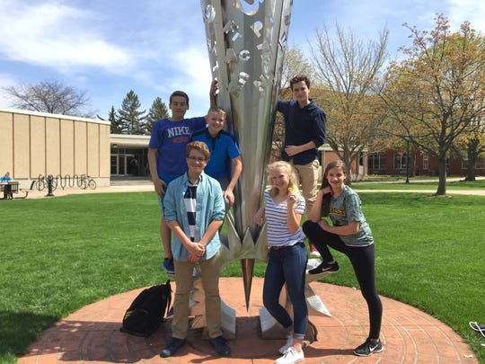 After a University of Wisconsin-Oshkosh Math Competition, participants had an opportunity to tour the campus.