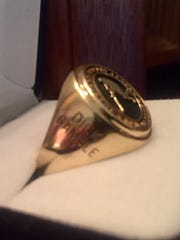 Dick Gamble's American Hockey League Hall of Fame ring - all polished up after discovered at bottom of Canandaigua Lake over July 4 weekend by an Auburn scuba diver.