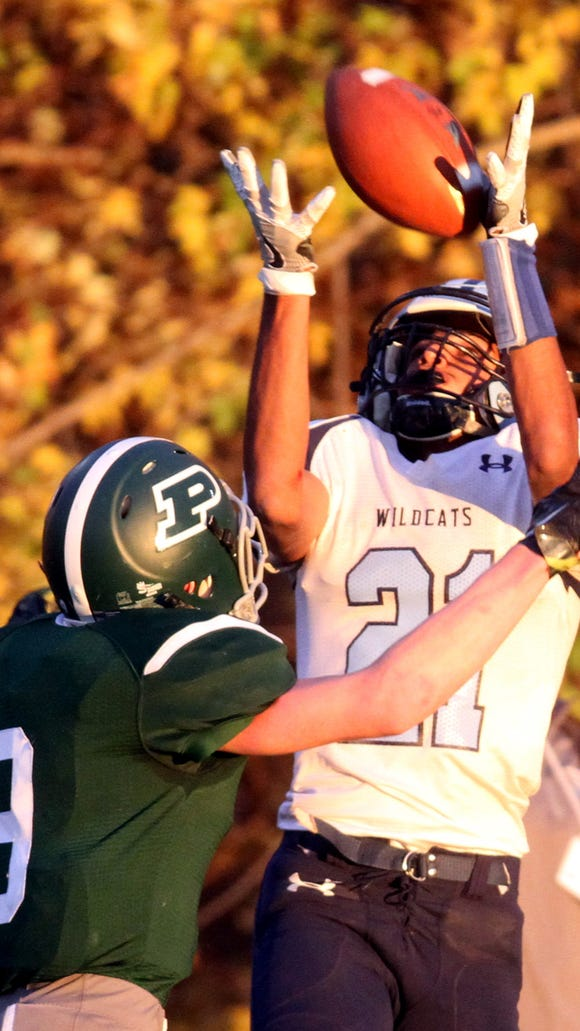 Westlake's Haseeb Azhar couldn't hold on the pass while