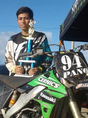 Jessthan Pano took the Schoolboy and Open Novice class wins for the 2017 Monster Energy Guam Motocross Championships  on Sunday, April 30 at the Guam International Raceway.