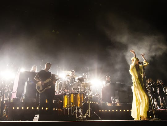 Florence + the Machine perform on the main stage at