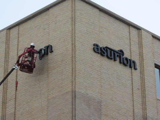 Asurion sign lowered