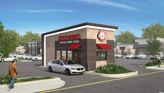 A rendering of the Scooter's Coffee location in south Springfield.