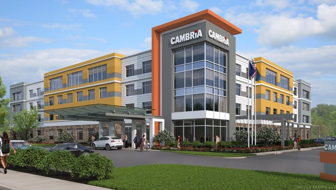 Cindy SpoljariThe Cambria Suites and Hotel is scheduled to open in March 2016 across 186th Street from Grand Park in Westfield.