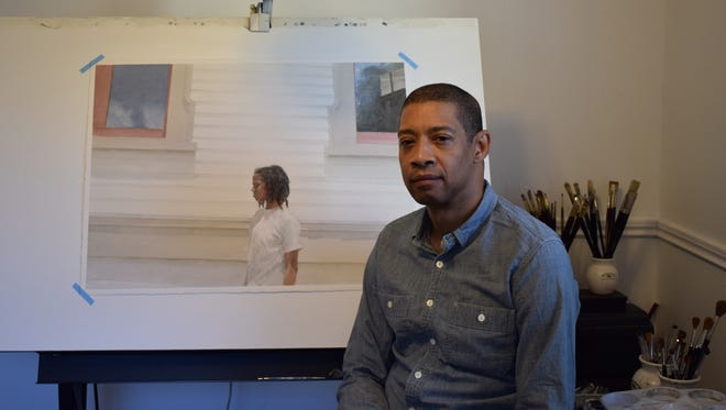 Mario A. Robinson, pictured at his home studio in Point Pleasant.