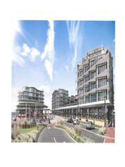A design rendering of the final phase of Pier Village