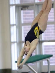 Whitnall's Alyssa Doherty competes in the diving portion