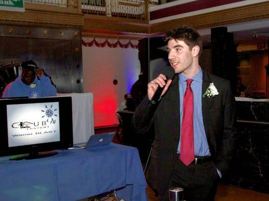 Matthew Mandeli, who organizes Club LOU Tonight, at the 2014 event.