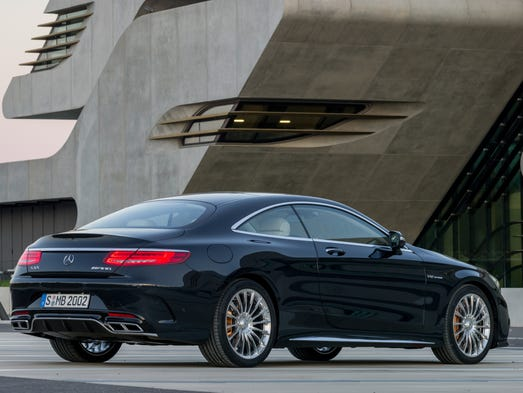 Mercedes-Benz' new 2015 S65 AMG Coupe gets dramatic new rear-end styling. It's the two-door version of Mercedes' biggest car