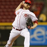 Cincinnati Reds relief pitcher Caleb Cotham (54) delivers a pitch in the top of the sixth inning of the MLB game between the Cincinnati Reds and the Pittsburgh Pirates at Great American Ball Park on Friday, April 8, 2016. After three innings the Reds led 3-1.