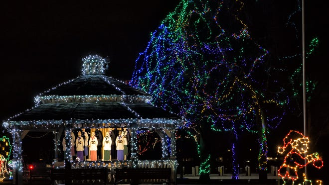 Through the holiday season there were thousands of visitors who came to see the sculptured, animated and twinkling light displays of the Celebration of Lights at Menominee Park.