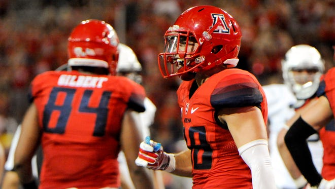 Jared Tevis is one of 40 former Arizona high school football players on the Arizona Wildcats' roster this season.