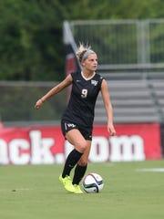 Bayley Feist starts on the women's soccer team at Wake