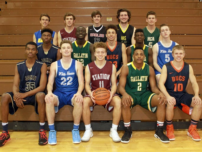 All-Sumner County Boys Basketball Team: (front row,