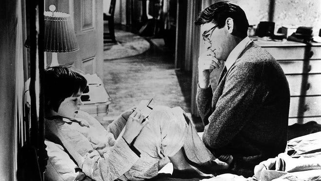 """Mary Badham and Gregory Peck, who starred as Scout and Atticus Finch, were both nominated for Oscars for the 1962 movie adaptation of """"To Kill a Mockingbird."""""""