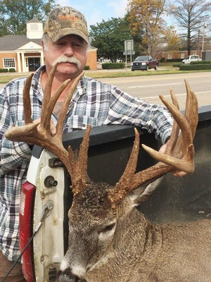 Eddie Harrell of Lena made his third shot at this 201 7/8-inch buck count.
