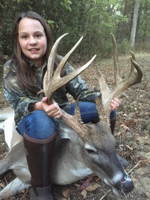 Kate Herring, 10, passed on a 160-class buck in 2015 and watched it grow to 184 inches this season.