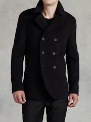 John Varvatos' wool pea coat, $1598.