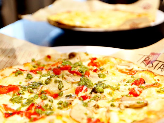 """Pizza for Valentine's Day? Why not? This is the Tristan """"Classic Pizza"""" at MOD Pizza in West Manchester Town Center."""