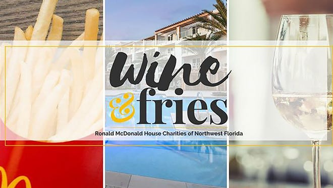 The Ronald McDonald House Charities of Northwest Florida Wine & Fries fundraiser will be Nov. 10 at The Pointe on 30A in Inlet Beach, between Panama City and Destin.