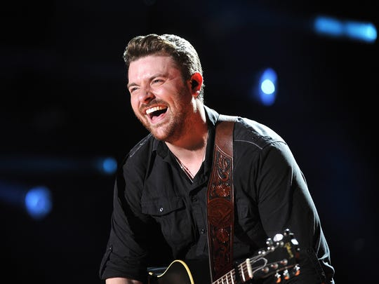 Chris Young laughs at the 2015 CMA Music Festival Saturday June 13, 2015.