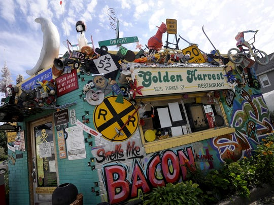 North Lansing's ever eclectic Golden Harvest restaurant on Turner St., July 20, 2015.