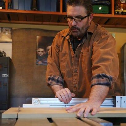 Furniture maker Kent Welsh shows off his workshop on