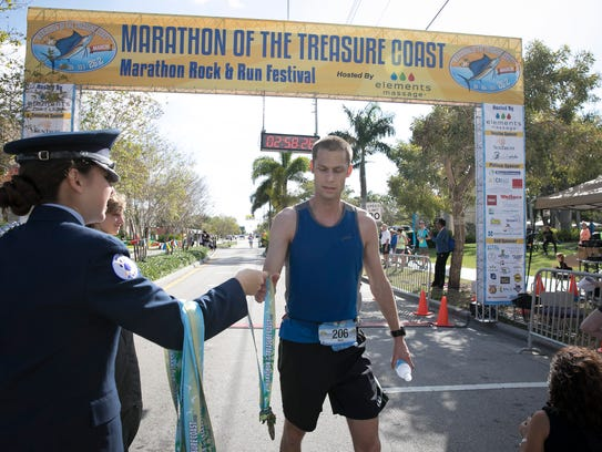 The fifth annual Marathon of the Treasure Coast starts at 6 a.m. Sunday at Memorial Park in Stuart.