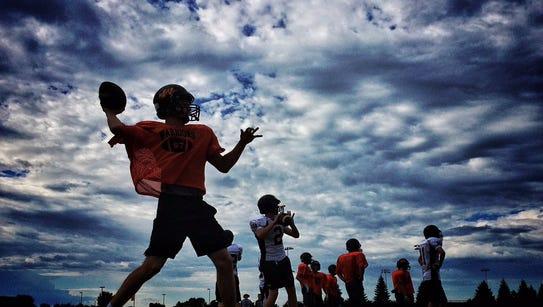 The Washington football team practices on Thursday
