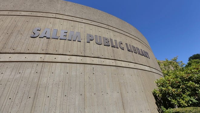 The Salem Public Library's exterior photographed on Monday, July 24, 2017.