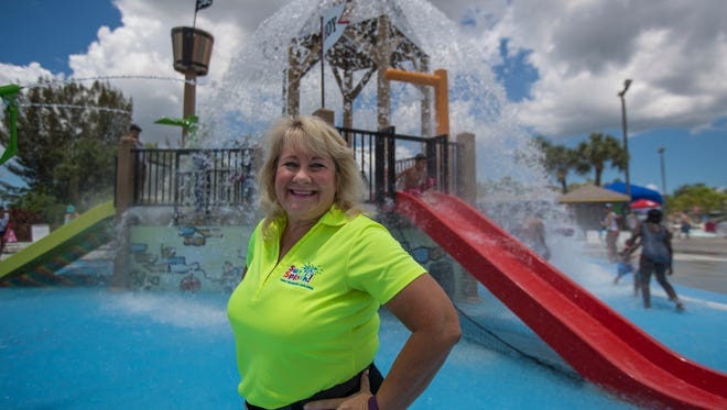 Sandy Greiner is in her eighth season as manager of Sun Splash Family Waterpark.