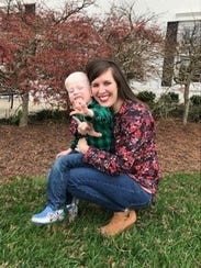 Katie Ogle and her son Lionel