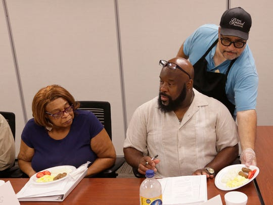 Marvin Jones serves an example of a healthy breakfast