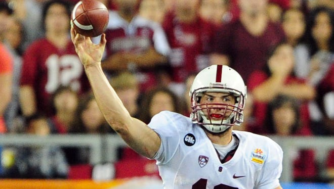 Stanford Cardinal quarterback Andrew Luck in 2012.