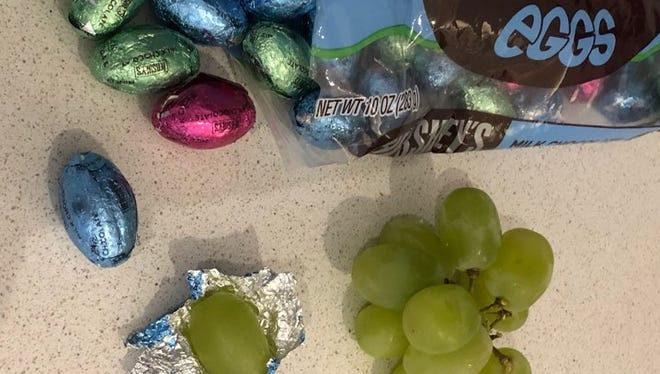 Martin County mom Jac McManus is wrapping grapes in foil this Easter for one of her April Fools' Day jokes.