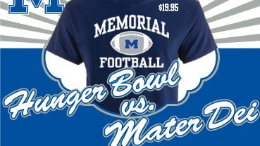 "Memorial will host Mater Dei at the Reitz Bowl Friday night in what is being dubbed as the inaugural ""Hunger Bowl"" raising funds for a local food pantry."