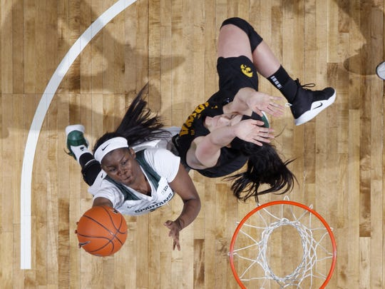 Mardrekia Cook, left, and Michigan State dropped to