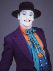 "Jack Nicholson is the Joker in  the 1989 ""Batman"" movie."