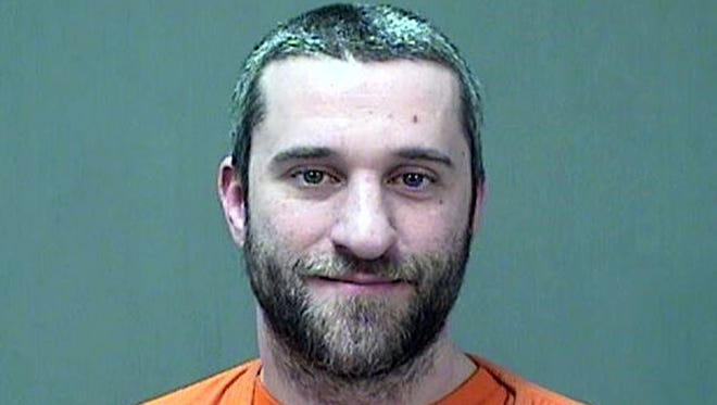 Dustin Diamond after his arrest in Port Washington in December 2014.