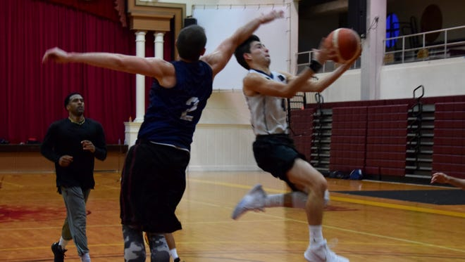 The U17 Guam men's team practice on July 6 at the Father Duenas Memorial School Phoenix Center for the FIBA U17 Oceania Championships that will run from July 10-15.