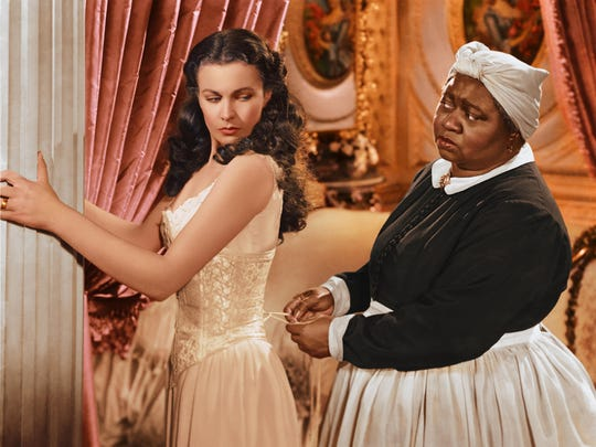 "Vivien Leigh and Hattie McDaniel in ""Gone with the Wind"""